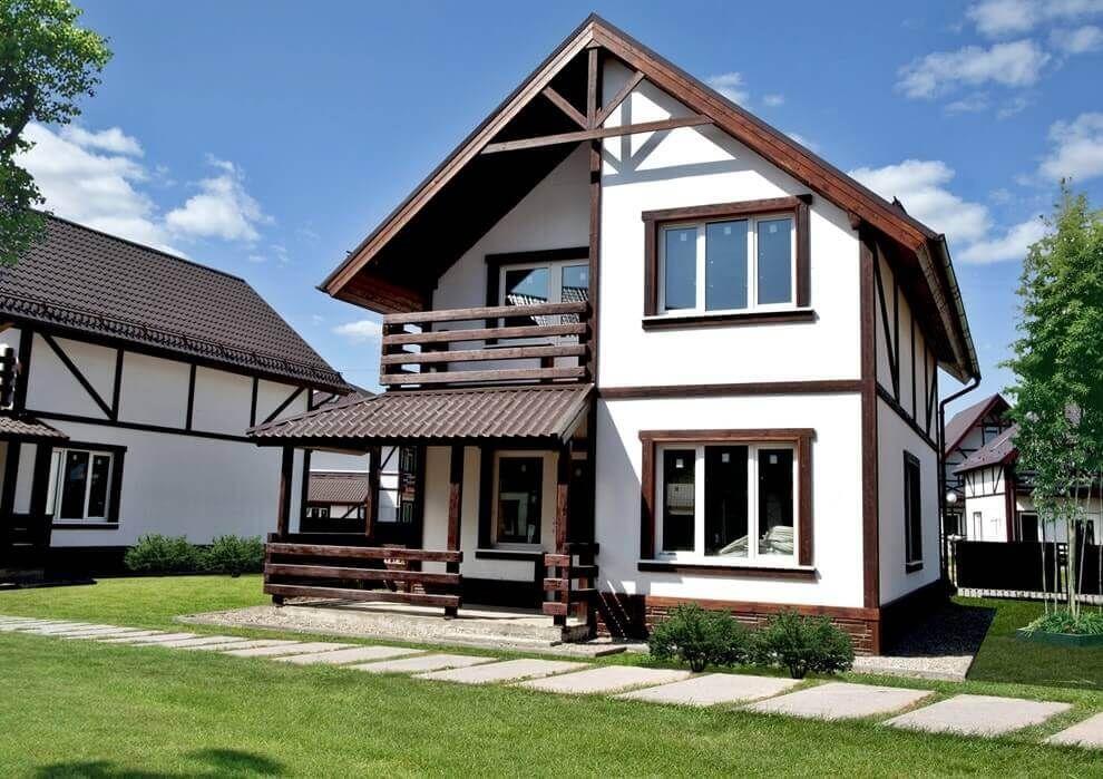 Скандинавский стиль фасадов домов фото