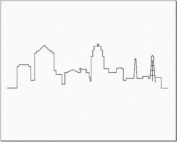 Durham Cityscape Black And White Digital Print By Urbannomadprints
