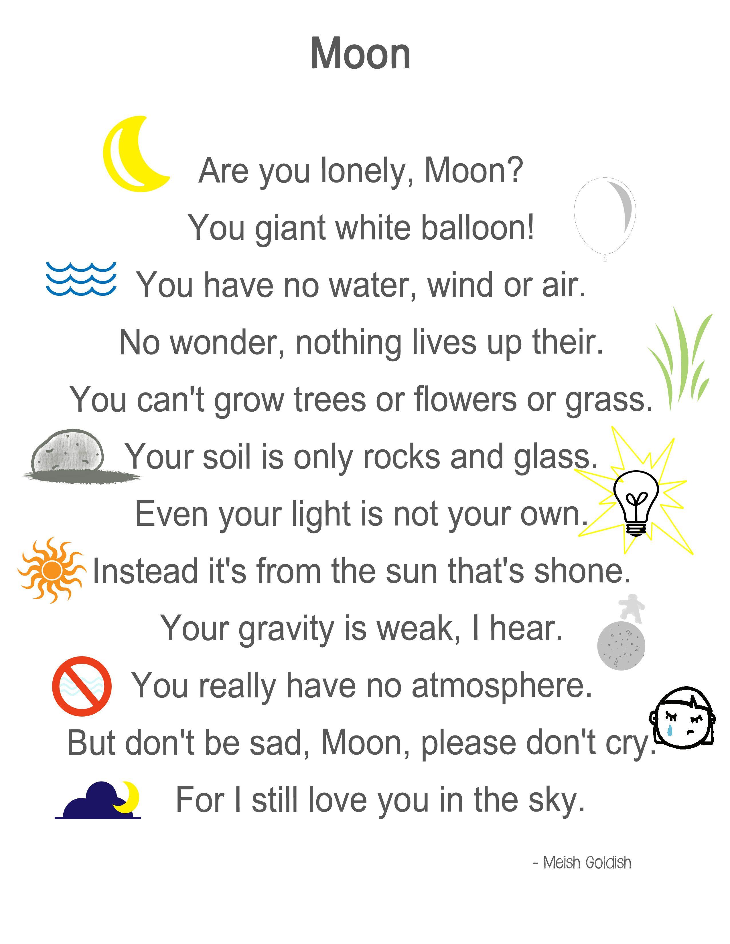 Moon Poem Play Learn Love