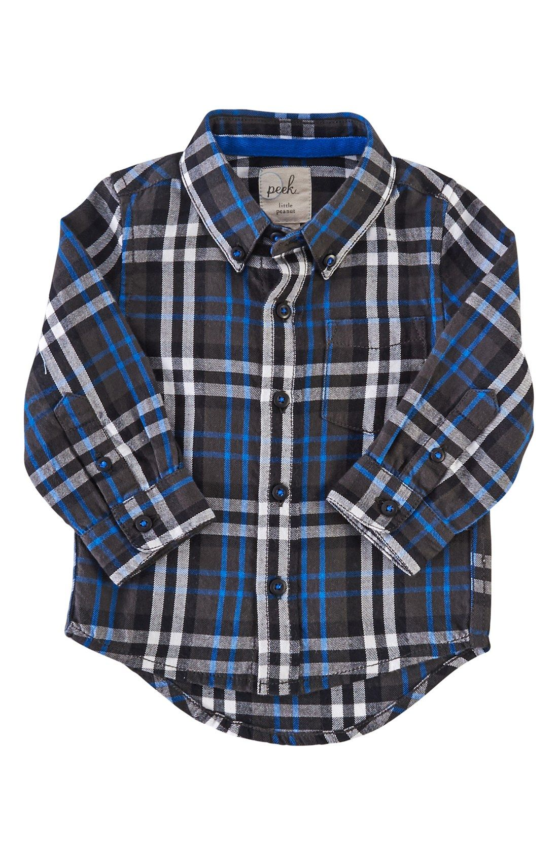 Blue flannel outfits for guys  Peek uLoganu Plaid Woven Shirt Baby Boys  Style u Fashion