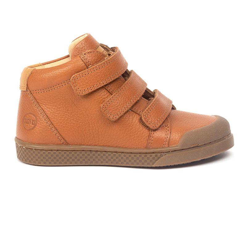 Sneakers montantes en cuir à triple velcros Ten W V3 Freesia Embosse Camel par 10IS Ce contenu est apparu en premier sur aimeelafee.com