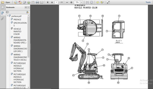 Yanmar Vio30 1 Crawler Backhoe Parts Catalog Manual Pdf Download Parts Catalog Repair Manuals Backhoe