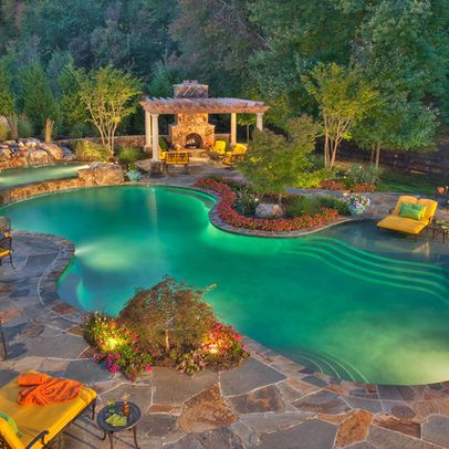Lagoon Pool Design, Pictures, Remodel, Decor and Ideas | Home ...
