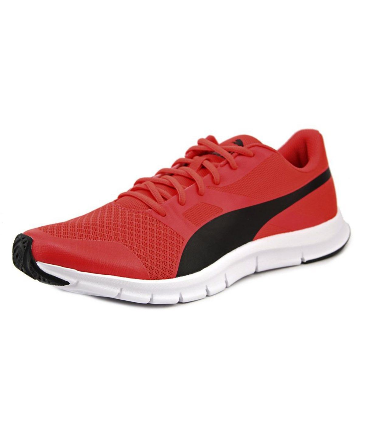 PUMA PUMA FLEXRACER MEN ROUND TOE SYNTHETIC RED RUNNING SHOE .  puma  shoes   sneakers 331f3825f