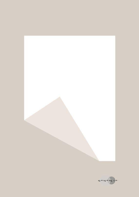 Minimalist art in beige by nanamiadesign