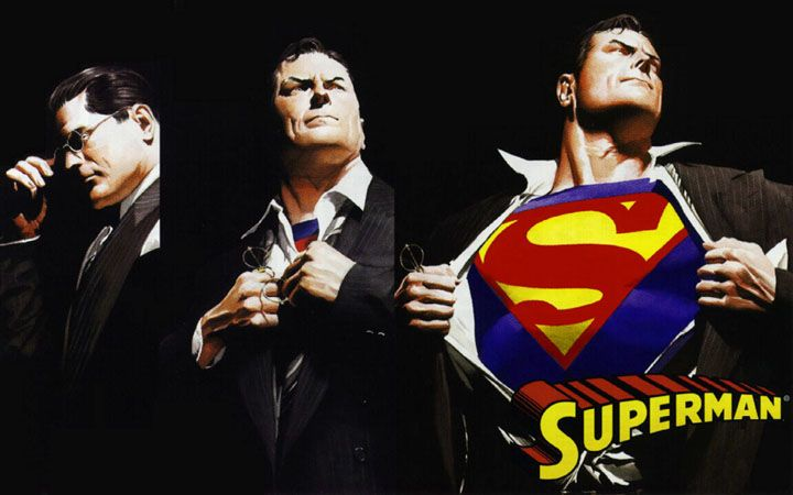 ilustracion de superman veterano