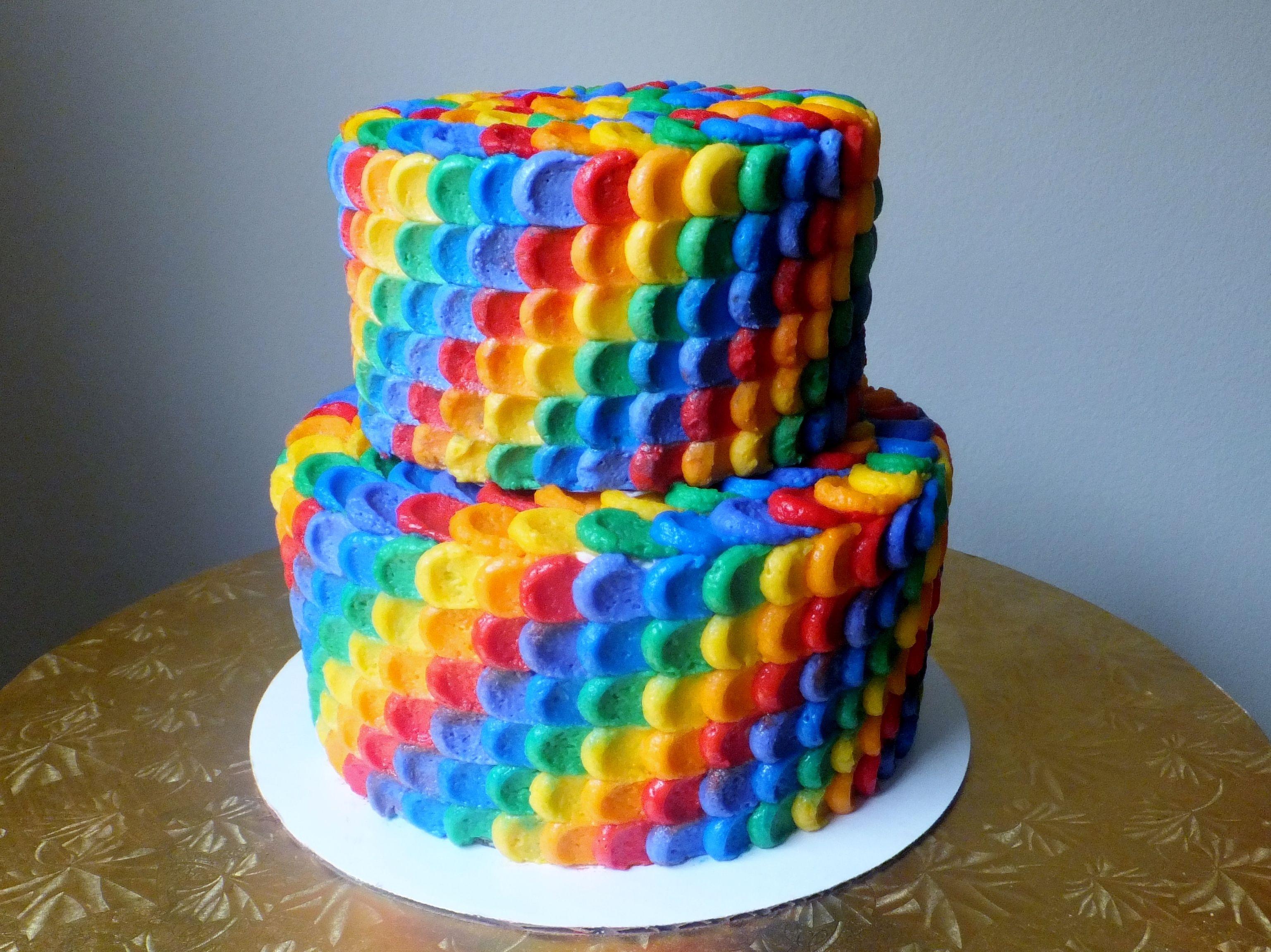 картинки радужного торта комплекс