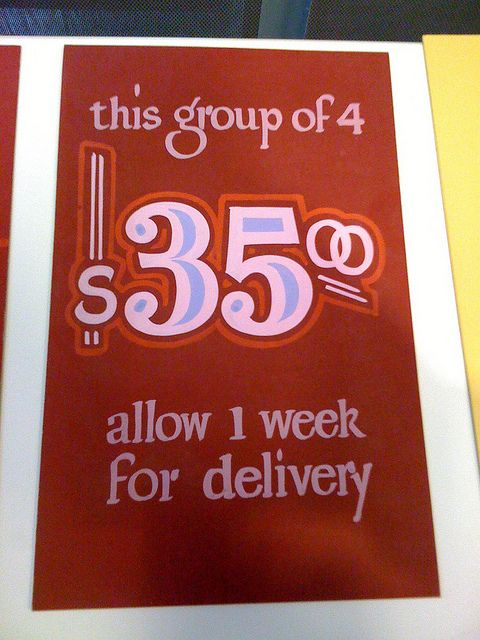 John Downer Price Cards | Hand-Lettered & Sign Painting