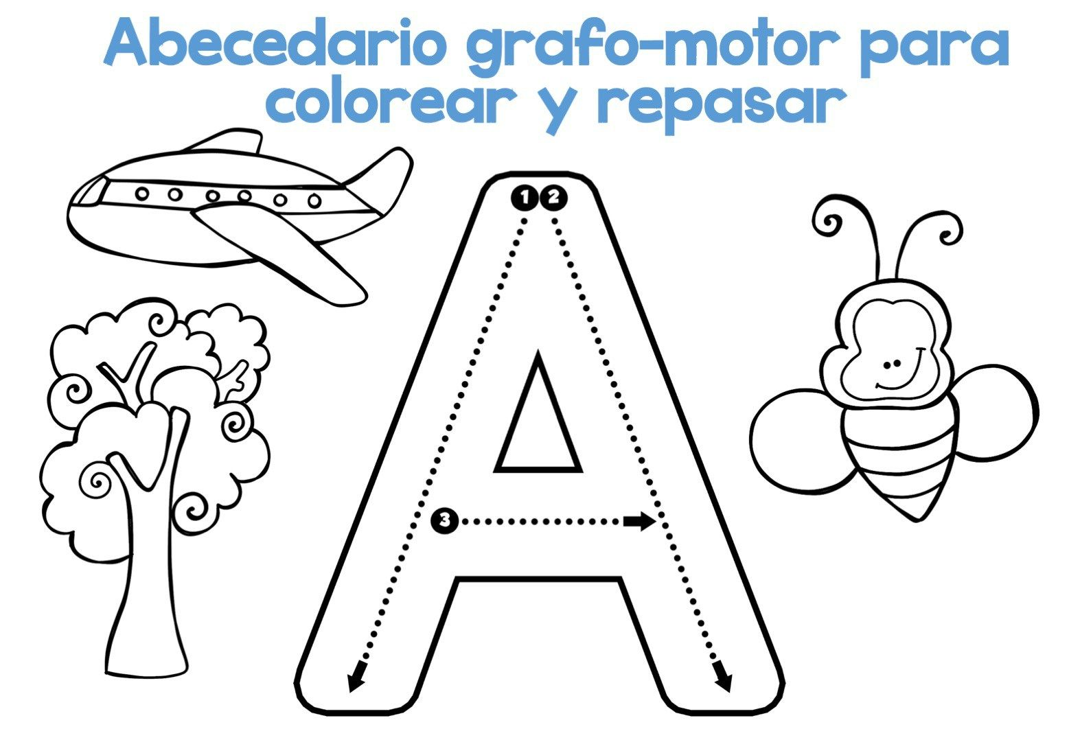 Descarga El Archivo En Pdf Abecedario Grafomotor Para Colorear Y Repasar Relacionado Abecedario Para Imprimir Abecedario Abecedario Para Ninos