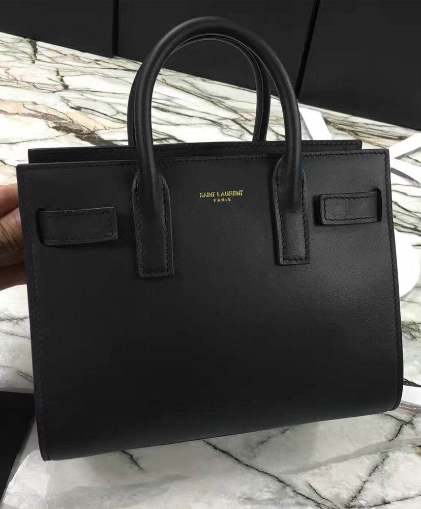 5c21487b4f YSL Downtown Tote Cow Leather Bags in Black. 2016 Women Fashion ...