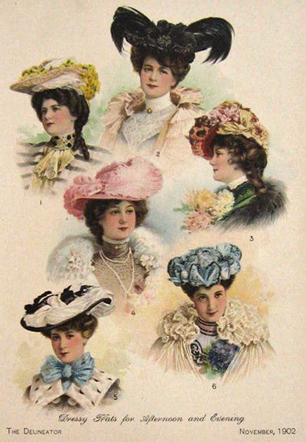 7120251df 1902 Women's Fashion Print ~ Dressy Hats, Millinery in 2019 ...