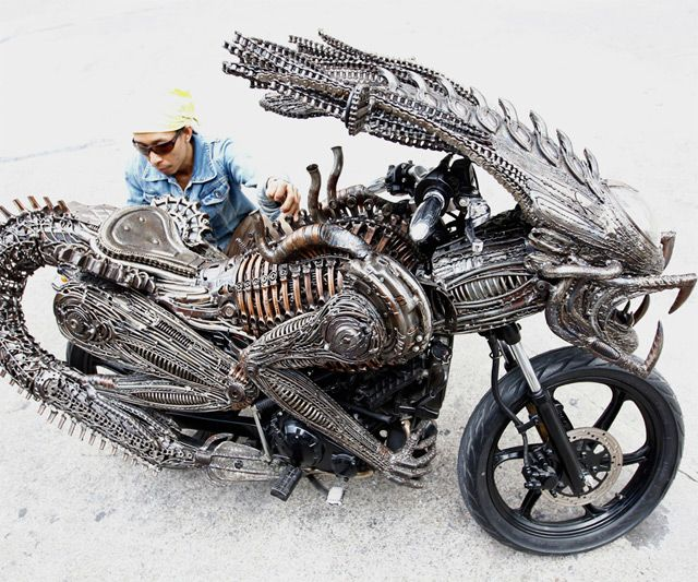 Alien Motorcycle. I wouldn't mess with this dude if I saw him on the road.