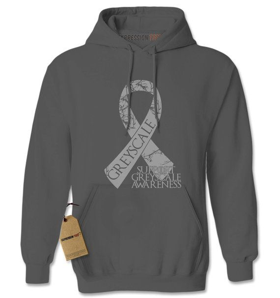Hoodie Support Greyscale Awareness Hooded Jacket by XpressionTees