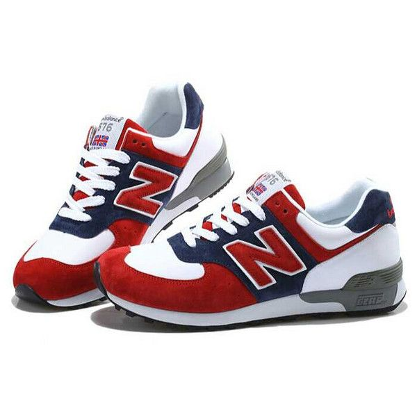 5db47fde34d8 NB 576 WRT576 Womens New Balance Spider Man Red Blue White Shoe ❤ liked on  Polyvore featuring shoes