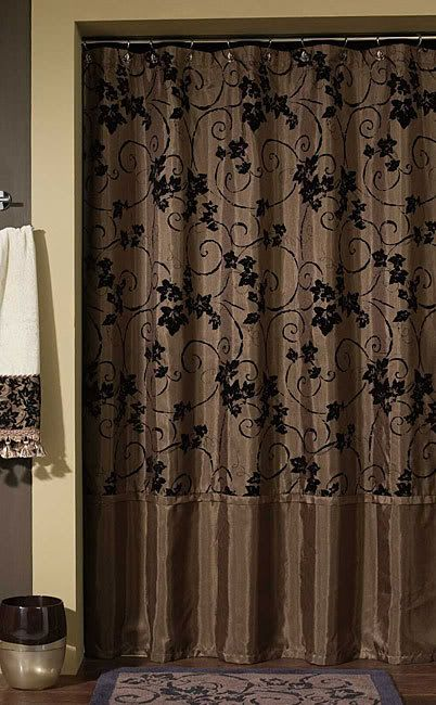 Glamorous Rich Brown Shower Curtain