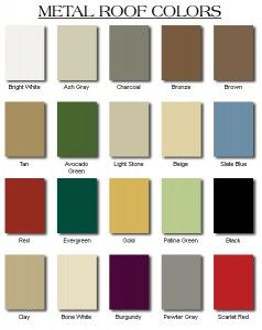Best A Chart Of Standard Metal Roofing Colors Metal Roof 400 x 300