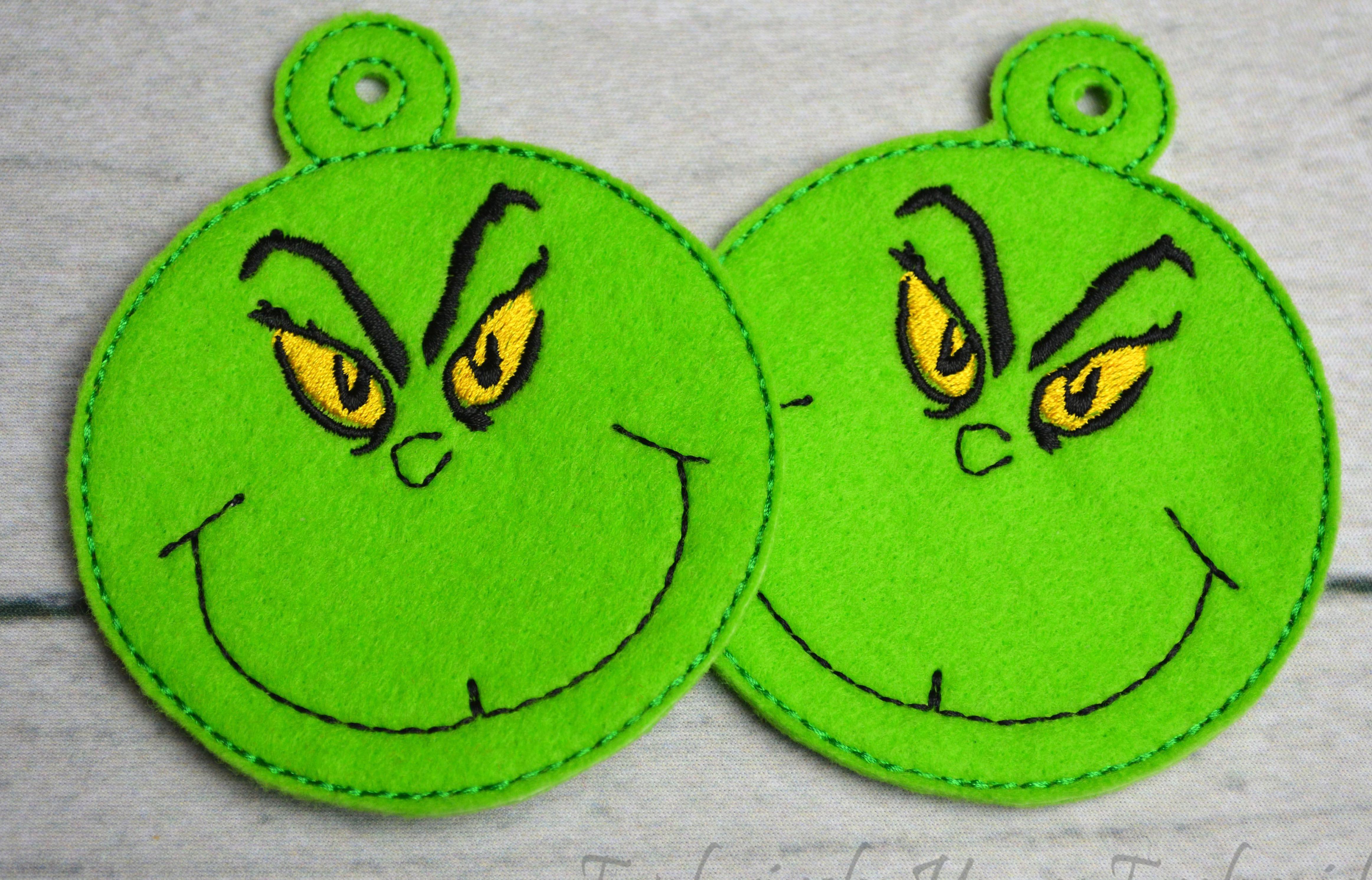 Grinch Ornament Grinch Crafts Felt Christmas Ornaments Grinch Ornaments