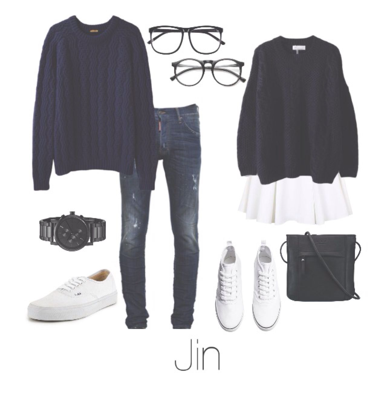 BTS Jin/Seokjin Couple outfit | looks | Pinterest | Ropa