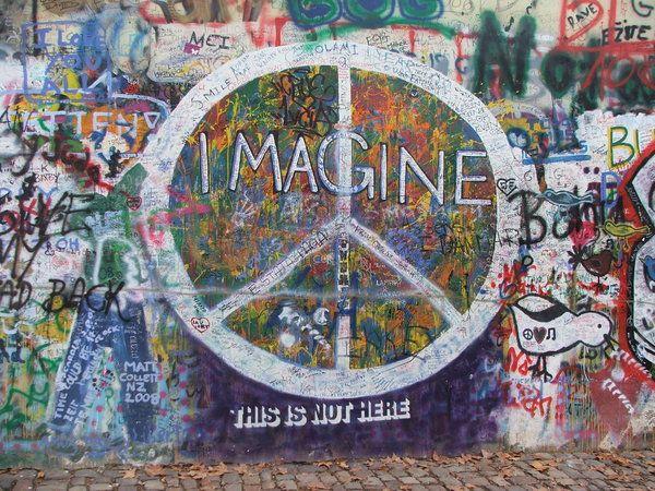 John Lennon Peace Wall In Prague Graffiti Wall Art Graffiti Wall Art