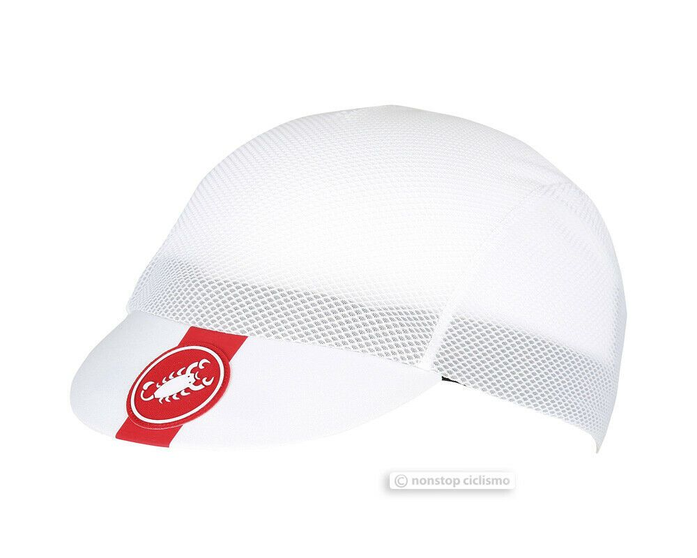 Castelli A//C Ultralight Summer Vented Bicycling Cycling Cap WHITE
