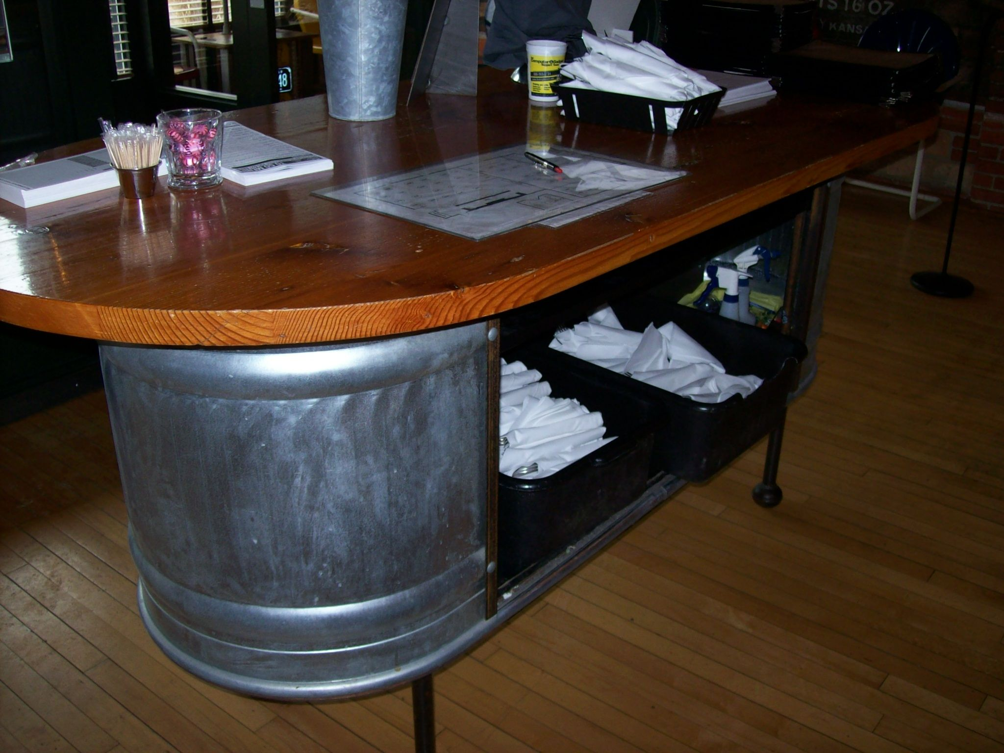 great way to create a hostess station or check out area | retail ...