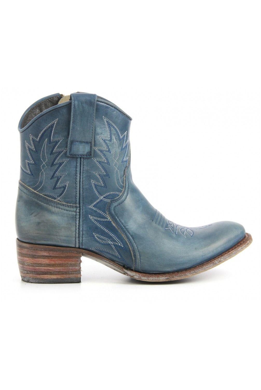 Sendra Booties 10163 blue - Vimodos