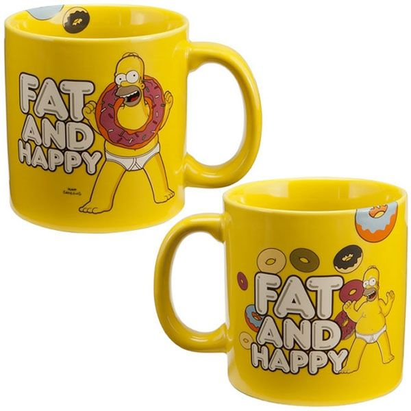 Fat And Happy - The Simpsons Mug
