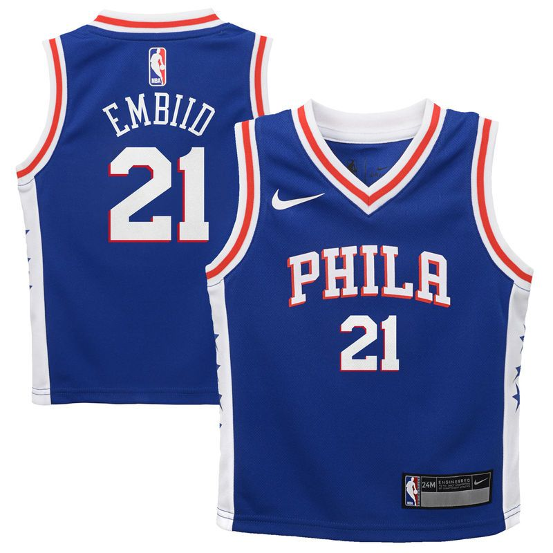 982c0a21a72 Joel Embiid Philadelphia 76ers Nike Infant Replica Jersey Blue - Icon  Edition