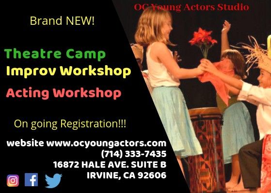 Pin by Ramona Yancy on OC Young Actors | Acting workshops ...