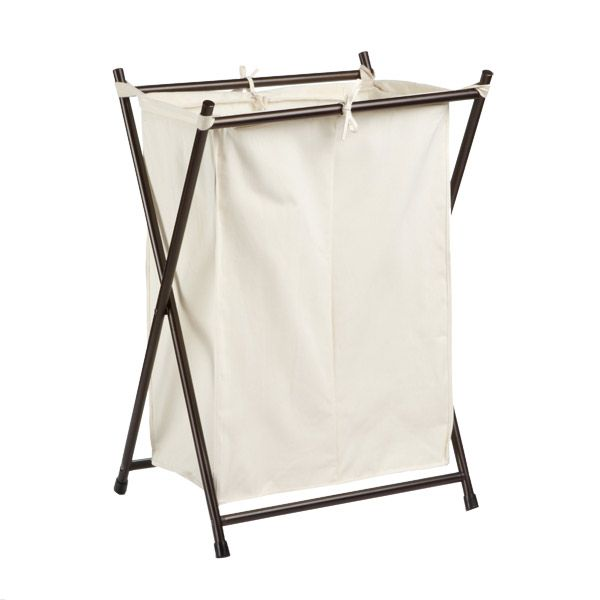 Bronze Double Folding Hamper Hamper Laundry Hamper