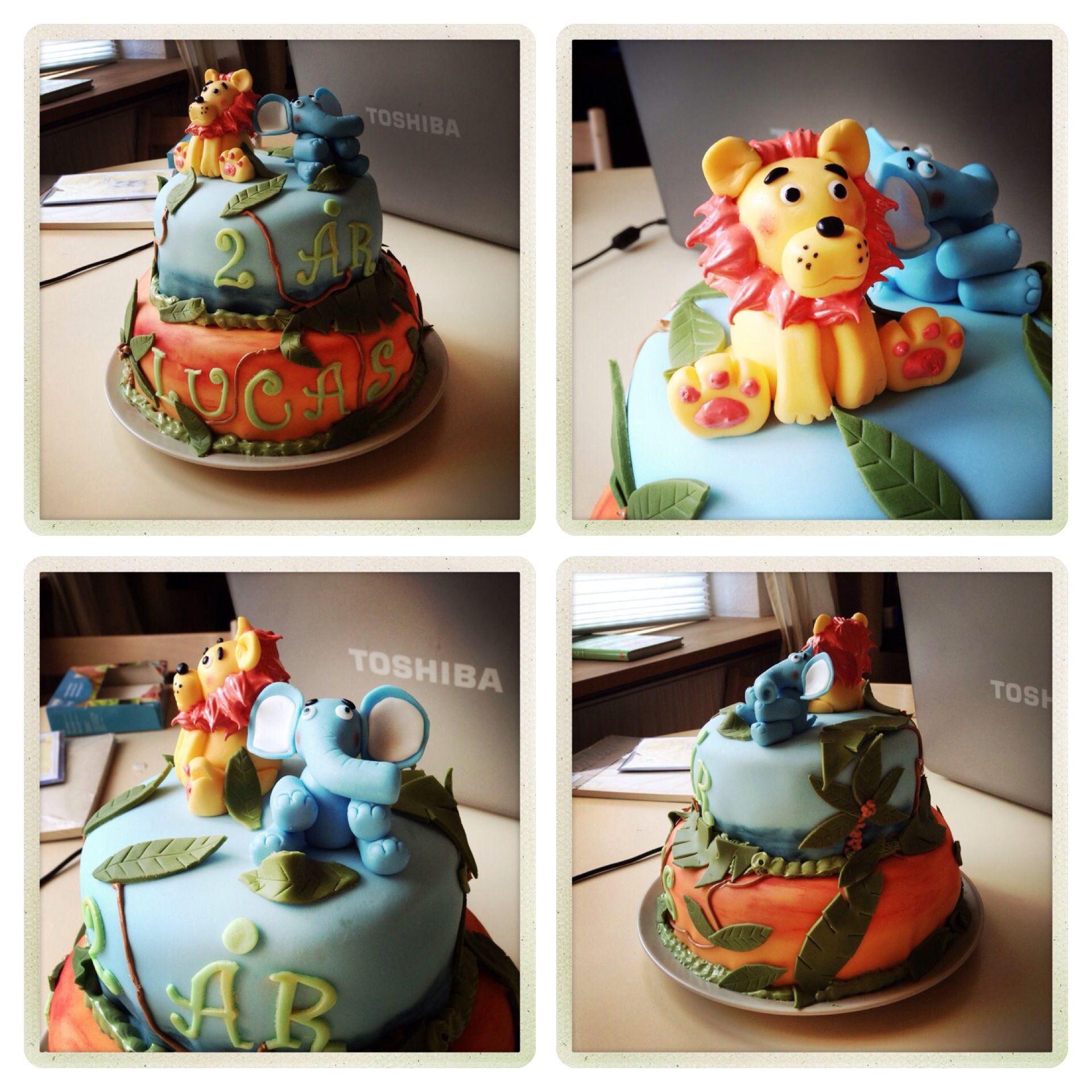 Birthday Cake to a 2 year old boy Cake with love Pinterest