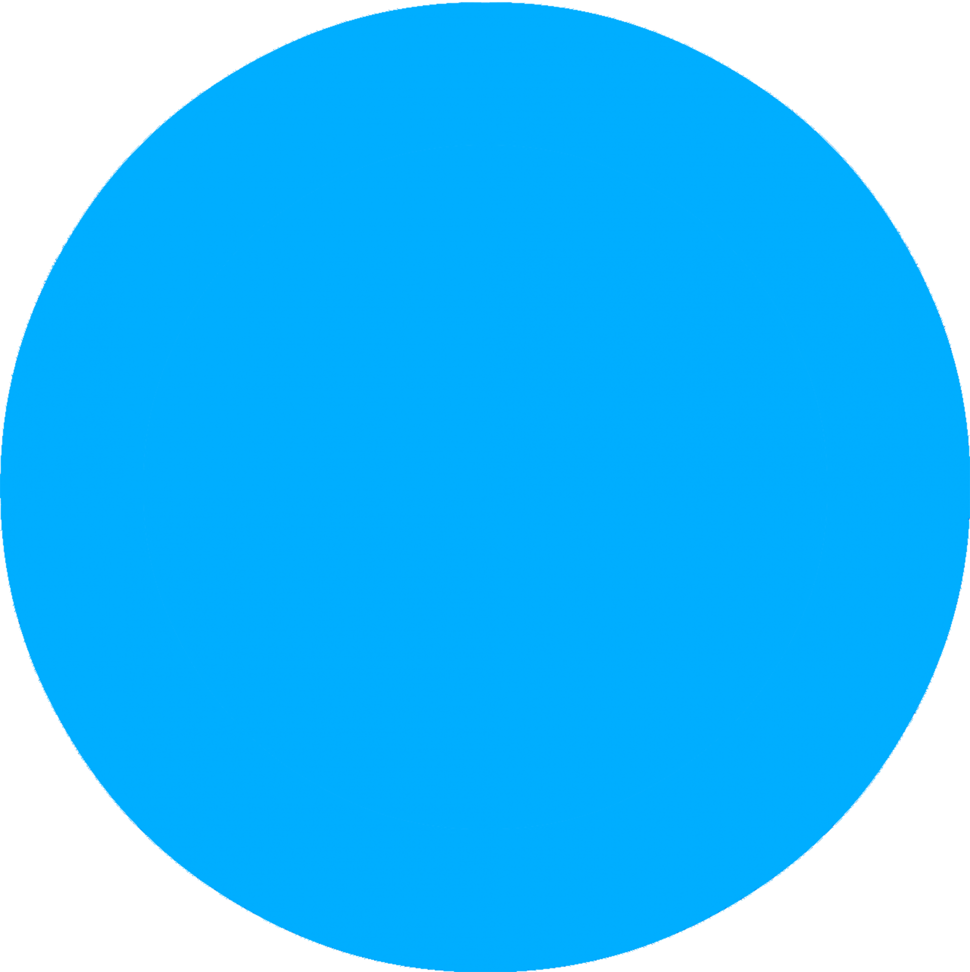 Periwinkle Blue Circle Blue Dot Image Icon Wall Decals