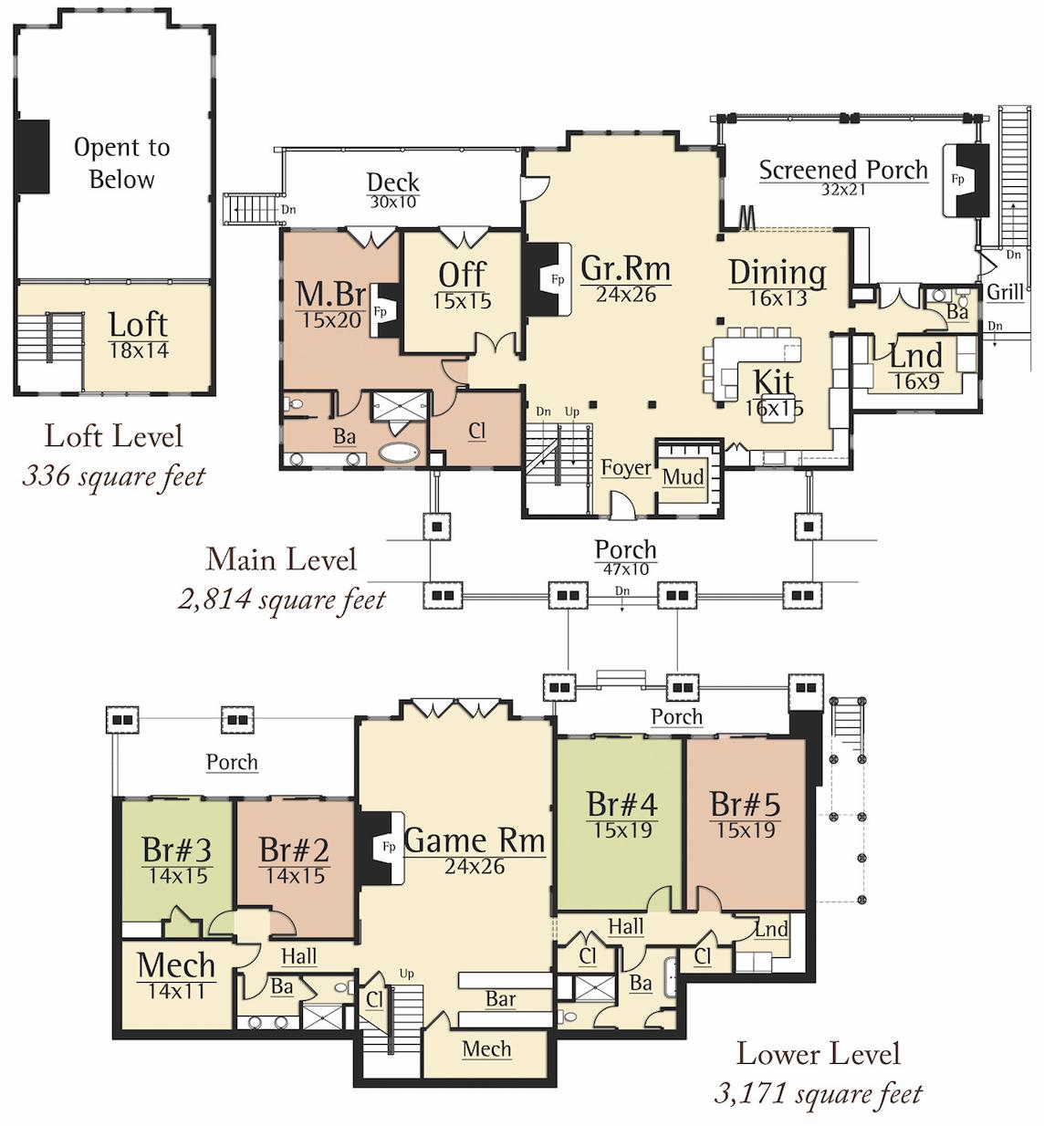 Sunapee Floor Plan From Mosscreek Floor Plans Cabin Floor Plans Barn House Plans