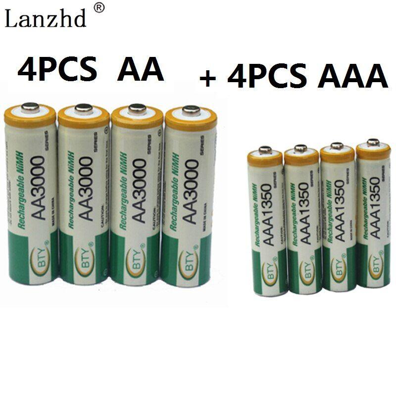Bettery Aa Aaa 1 2v Rechargeable Battery 4pcs Aa Batteries 4pcs Aaa Rechargeable Ni Mh Batteries For Toy And Rechargeable Batteries Remote Control Recharge