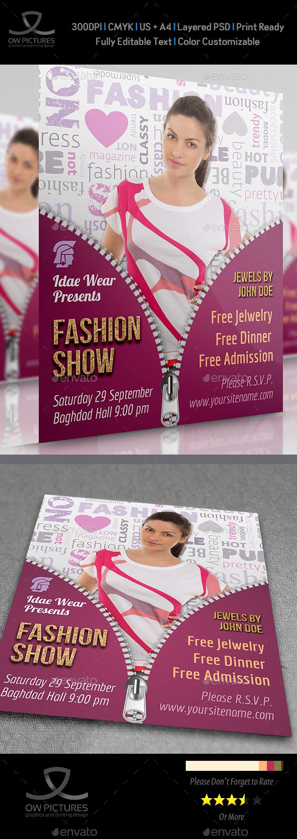 Fashion Flyer Font Logo Flyer Template And Fonts