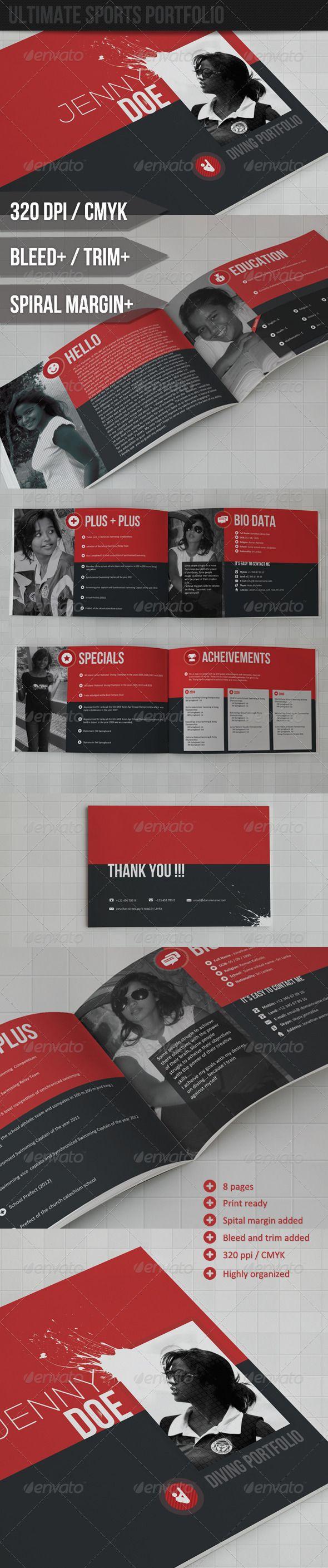 Sports Portfolio Resume   CV / Resume / Print designs   Pinterest ...
