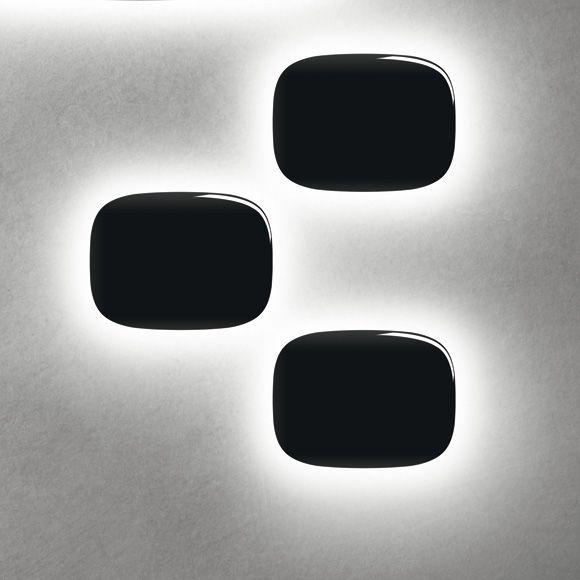 Tivu Seinävalaisin Pieni, Musta, Foscarini