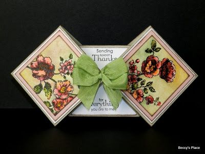 The Double Diamond Fold Card Is A Little Tricky Because Of The Way The Two Ends Fold I Would Suggest Starting With Shaped Cards Card Patterns Cards Handmade