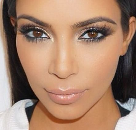 15 ideas for wedding makeup for brown eyes kim kardashian ...