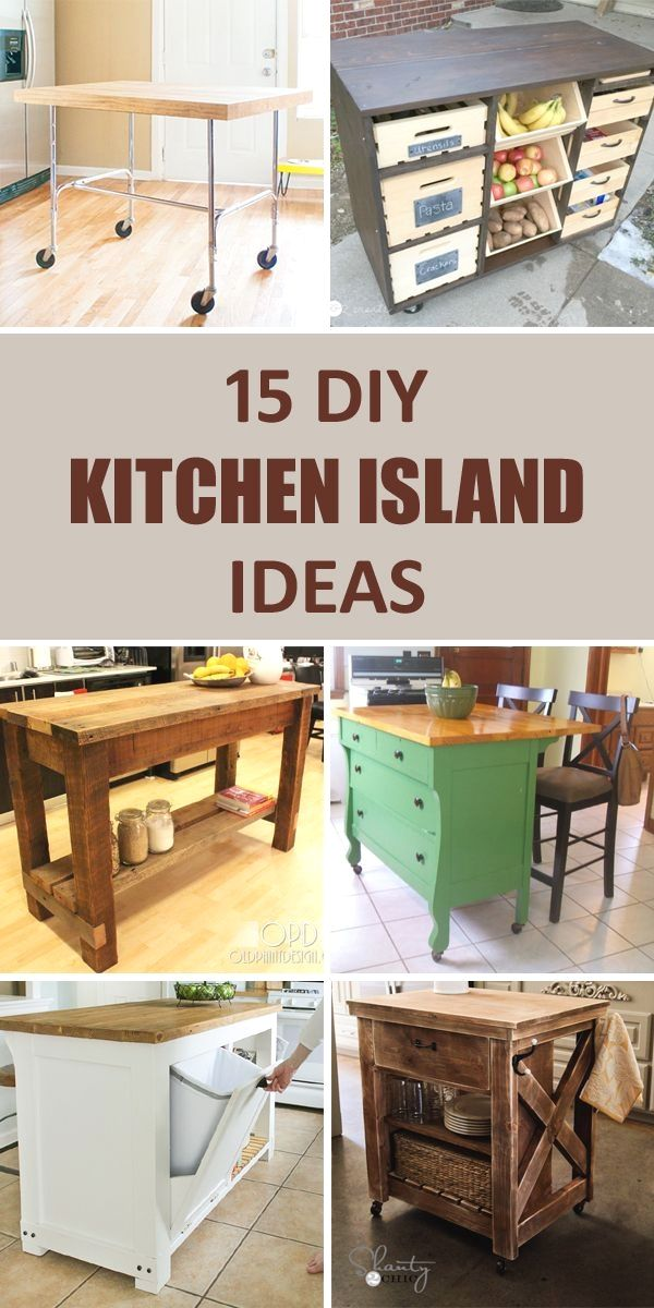 15 awesome diy kitchen island ideas that will make your kitchen more functional diy kitchen on kitchen island ideas cheap id=99402