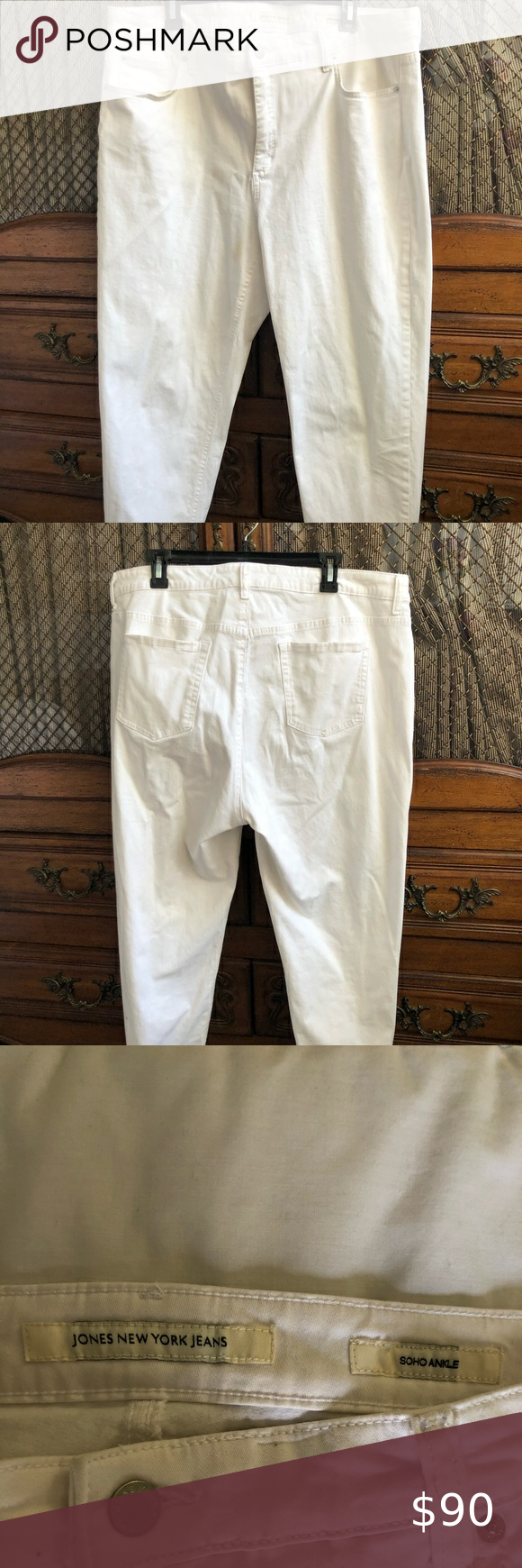 Jones New York Jeans Jones New York White Denim Jeans
