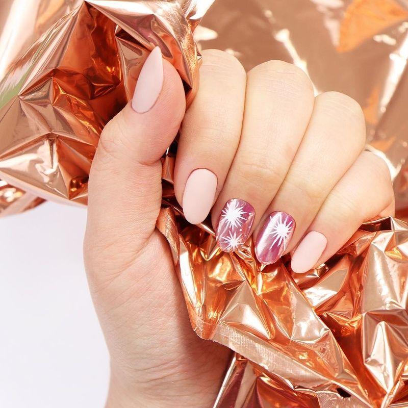 Chrome Effect Paznokcie Hybrydowe Neonail Nails Silver Beauty