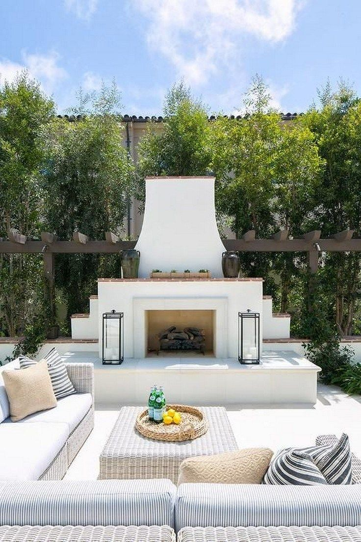 47 Small Backyard Landscaping Ideas For Your Perfect Backyard Backyard Smallbackyard Backyardideas Outdoor Fireplace Designs Backyard Fireplace Patio Design