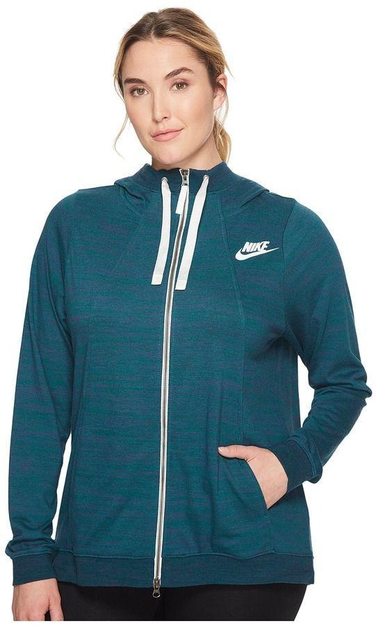 5d8a5aa968fd Nike Sportswear Gym Classic Full-Zip Hoodie Women s Sweatshirt ...
