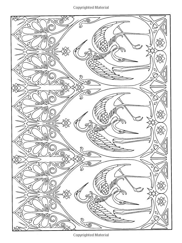 Art Nouveau Patterns (Dover Design Coloring Books): Marty Noble ...