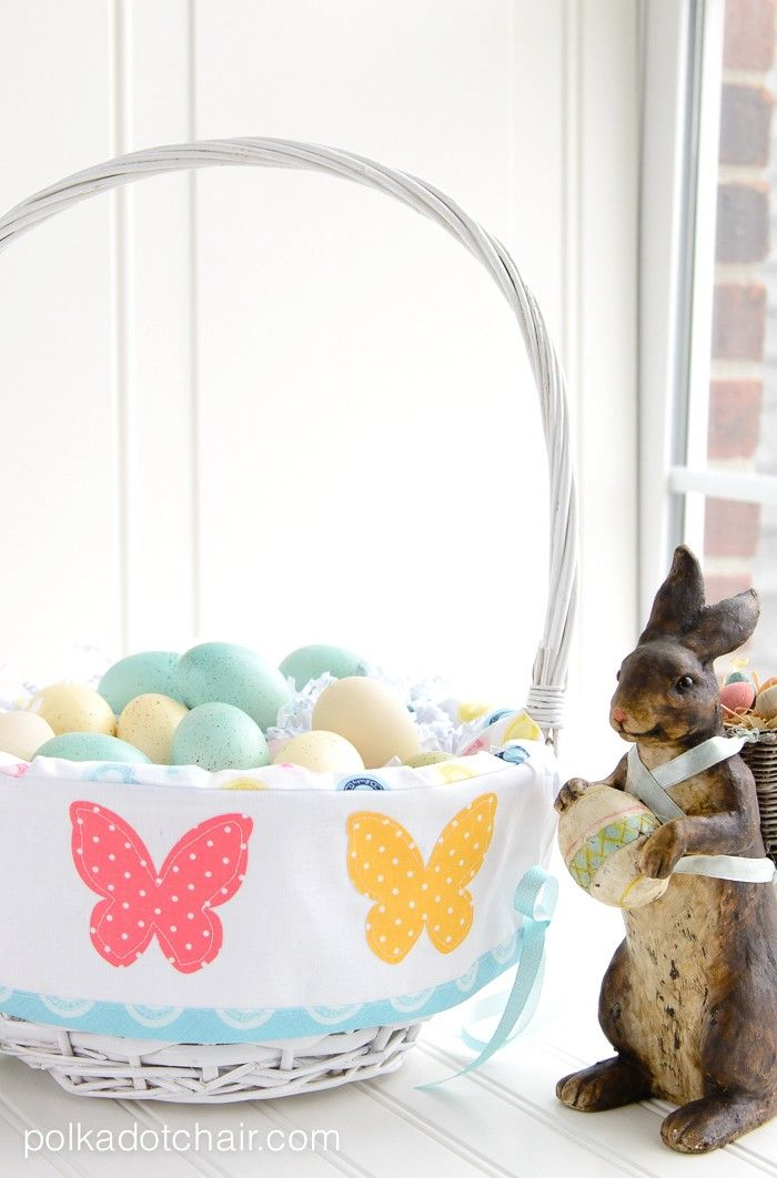 Easter basket liner pattern on polka dot chair sewing blog how to sew a custom easter basket liner negle Images