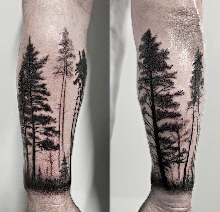 tatouage arbre signification et repr sentations sous toutes les coutures forestier. Black Bedroom Furniture Sets. Home Design Ideas
