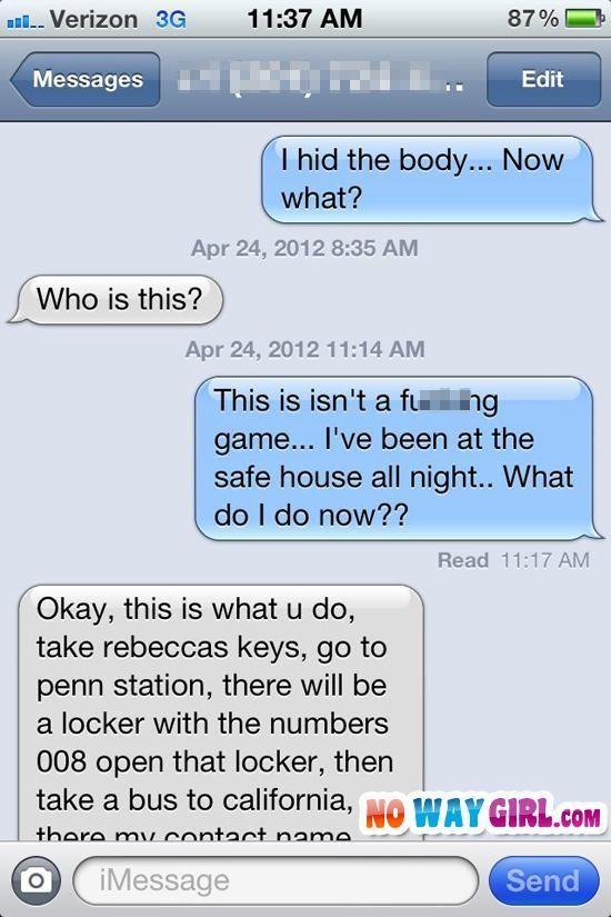 texting random girl profile