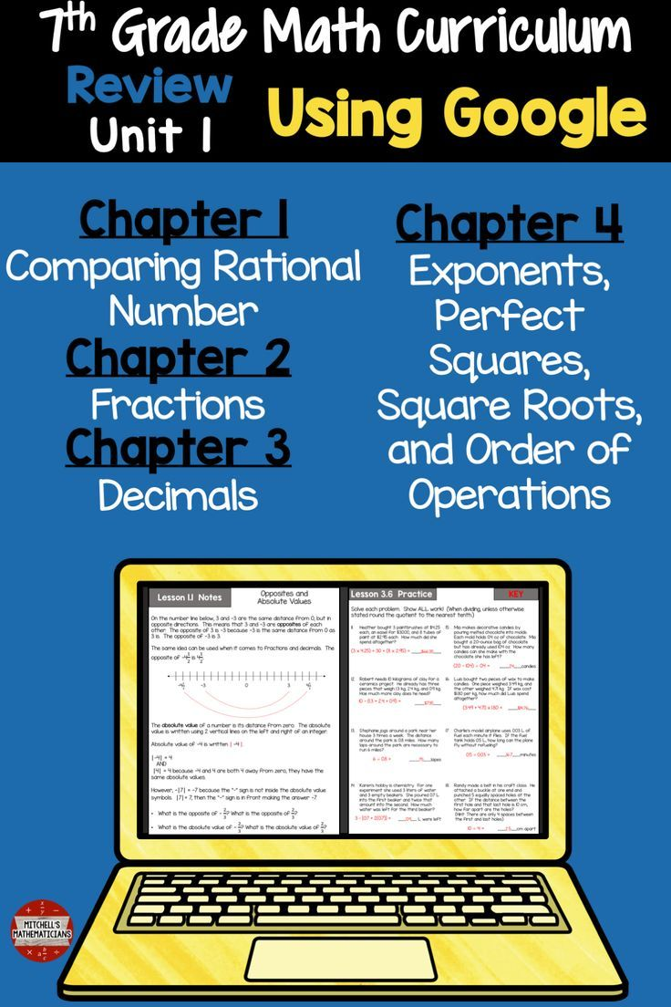 7th Grade Unit 1 Fraction Decimal Order of Operations and More Using ...