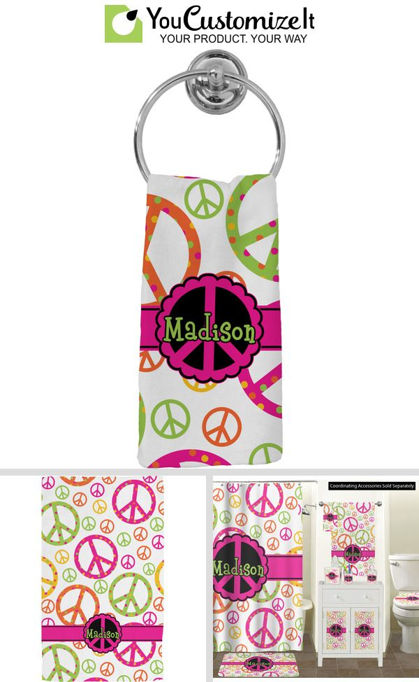 Peace Sign Hand Towel - Full Print (Personalized) #handtowels